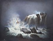 POUECH - Huile sur toile - 114 x 146 cm - vendu