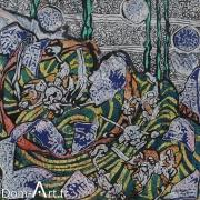 CAVADORE - papier marouflé sur toile - 10069 - 50 x 50 cm
