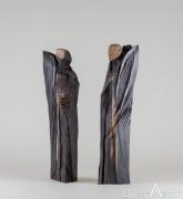Bernard ABTEY - Ellipses de confidences - Ebene de Macassar - hauteur 45 cm