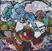 Cavadore - 10065 - 50 x 50 cm- acrylique sur papier marouflé sur toile - encadré