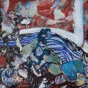 Cavadore - 10061 - 50 x 50 cm- acrylique sur papier marouflé sur toile - encadré