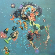 Gaiss - Constellation Organique - 90 x 90 cm technique mixte sur toile