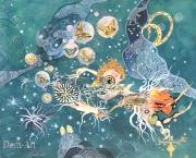 Gaiss - Jardin de Paradis - 80 x 100 cm technique mixte sur toile